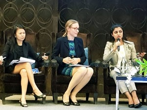 Ms. Farhan at the CSR ASIA Summit, 2017 in Bangkok