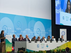 Ms. Farhan attening the COP23 hosted by the UNFCCC in  Germany, 2018
