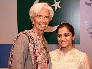 Ms. Farhan with MD IMF Ms. Christine Lagarde